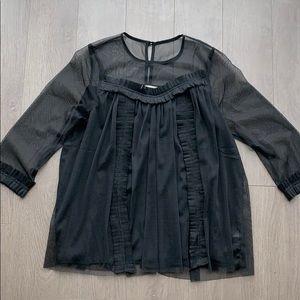 Sheer black long sleeved shirt from boutique